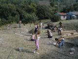 2000 the Osho Circle School beginnings - building the first Inipi Camp